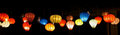 Traditional asian culorful lanterns on chinese market Royalty Free Stock Photo