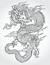 Traditional asian dragon vector illustration Stock Images