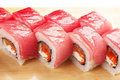 Traditional Asian food sushi