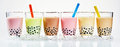 Traditional Asian milky bubble tea Royalty Free Stock Photo