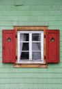Traditional austrian window in winter Royalty Free Stock Images