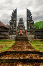 Traditional balinese architecture gate of temple Royalty Free Stock Images