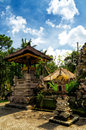 Traditional balinese architecture the gunung kawi Royalty Free Stock Images