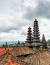 Traditional balinese architecture the pura besakih temple Royalty Free Stock Photo