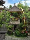 Traditional Balinese Hindu temple architecture Royalty Free Stock Photo