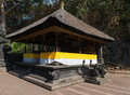 Traditional balinese pavilion bale piasan offerings goa lawah bat cave sep bali indonesia Stock Photography