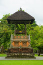 Traditional balinese pavilion in the temple Stock Image