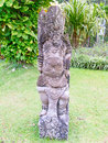 Traditional balinese sculpture on the temple entrance Royalty Free Stock Photo