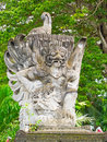 Traditional balinese sculpture on the temple entrance Royalty Free Stock Image