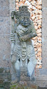 Traditional balinese sculpture on the temple entrance Stock Images