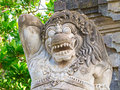 Traditional balinese sculpture on the temple entrance Royalty Free Stock Photography