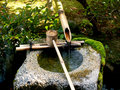 Traditional Bamboo Fountain Royalty Free Stock Photo