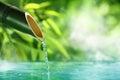 Traditional Bamboo Fountain Royalty Free Stock Photo