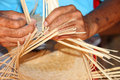 Traditional bamboo weaving Stock Photography