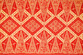 Traditional batik sarong pattern background Royalty Free Stock Photography