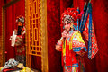 Traditional beijing opera actor waxwork performance clothingï œchina Royalty Free Stock Image