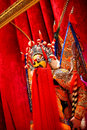 Traditional beijing opera actor waxwork performance clothingï œchina Royalty Free Stock Photos