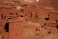 Traditional berbers village in high atlas mountain early spring time morocco africa Stock Photo