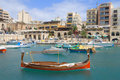 Traditional Boat in St.Julians, Malta Stock Images