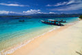 Traditional boat on tropical beach local gili meno lombok indonesia Royalty Free Stock Image