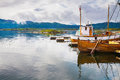 Traditional boats at Haholmen island, Norway Royalty Free Stock Photo