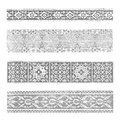 Traditional border pattern collection Royalty Free Stock Photo