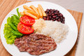 Traditional Brazilian meal Royalty Free Stock Photos
