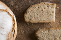 Traditional bread in an rustic appearance Royalty Free Stock Photo