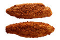Traditional breaded filleted fish isolated Royalty Free Stock Photo