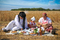 Traditional breakfast of wheat field Royalty Free Stock Photo