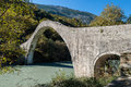 Traditional bridge in Greece Stock Photo
