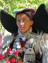 Traditional buddhist lady at Ladakh festival Stock Photos