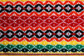 Traditional bulgarian embroidery Stock Photo