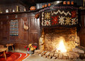 Traditional Bulgarian fireplace Royalty Free Stock Photography