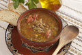 Traditional Bulgarian Lentil Soup Royalty Free Stock Photography