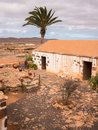 Traditional canary islands farm house farmhouse la alcogida ecomuseum in fuerteventura Royalty Free Stock Photo