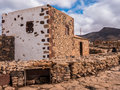 Traditional canary islands farm house farmhouse la alcogida ecomuseum in fuerteventura Stock Photos