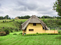 Traditional cape dutch vacation house shot in monks cowl area drakensberg mountains south africa Stock Images