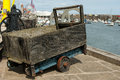 Traditional cargo truck wooden used in fishing harbours Royalty Free Stock Image