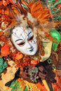 Traditional carnival mask and costume. Venice, Italy. Royalty Free Stock Images