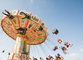 Traditional chairoplane at oktoberfest in munich germany september people a on the germany on september the is the biggest Stock Images