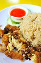 Traditional chicken rice delicacy Royalty Free Stock Photo