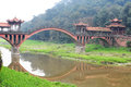A traditional chinese ancient bridge Royalty Free Stock Photo