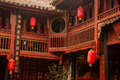 Traditional Chinese Bai Architecture Style Royalty Free Stock Photo