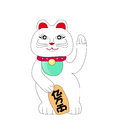 Traditional Chinese Cat of Luck Stock Images