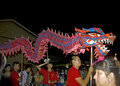 The Traditional Chinese Dragon Dance Stock Photography