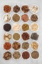 Traditional Chinese Herbal Medicine Collection Royalty Free Stock Photo
