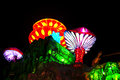 Traditional chinese lanterns at the lantern festival Royalty Free Stock Photo