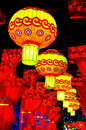 Traditional chinese lanterns at the lantern festival Royalty Free Stock Photography