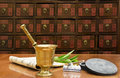 Traditional Chinese medicine shop Royalty Free Stock Photo